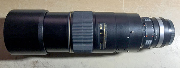 Nikon 300mm F4 with Fotodiox Nikon G - Fuji X