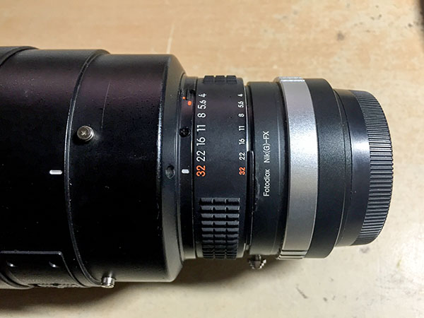 Nikon 300mm F4 with Fotodiox Nikon G - Fuji X