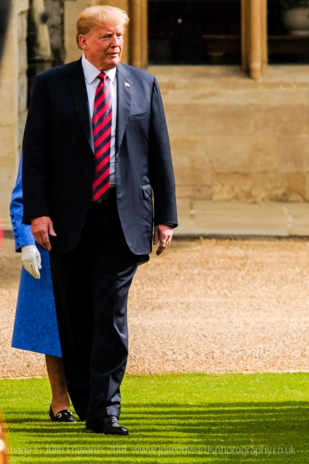 The Queen meets the President of the United States of America and Mrs Trump at Windsor Castle on 13/07/2018