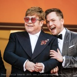 Elton John and Taron Egerton poses on the red carpet for Rocketman on Thursday 16 May 2019 at the 72nd Festival de Cannes, Palais des Festivals, Cannes. Pictured: Elton John , Taron Egerton. Picture by Julie Edwards/LFI/Avalon. All usages must be credited Julie Edwards/LFI/Avalon.